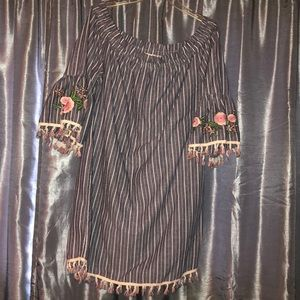 Oddy navy striped dress
